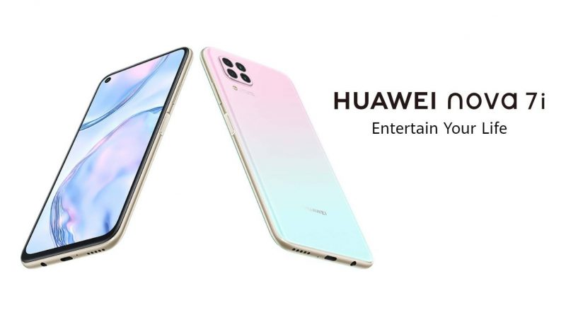 Huawei nova 7i Screen