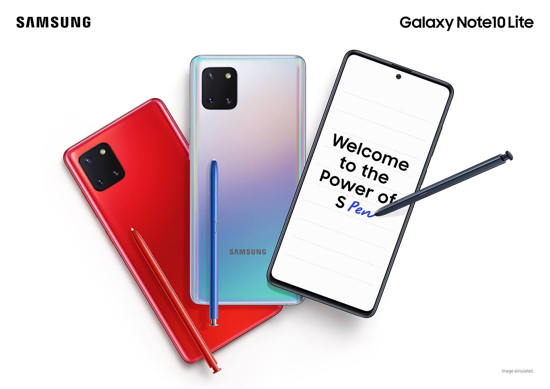 Samsung Galaxy Note10 Lite Screen